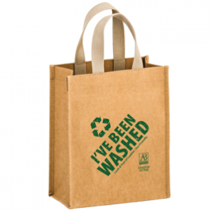 Washable Kraft Paper Tote Bag
